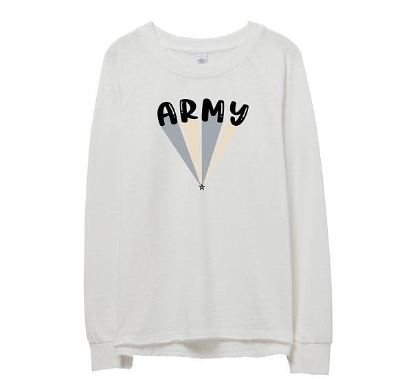 West Point Bubble Raw-edge Sweatshirt