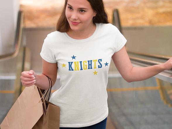 Elkins Knights Mascot tee.png