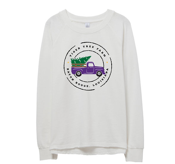 LSU Holiday Truck Raw-edge Sweatshirt