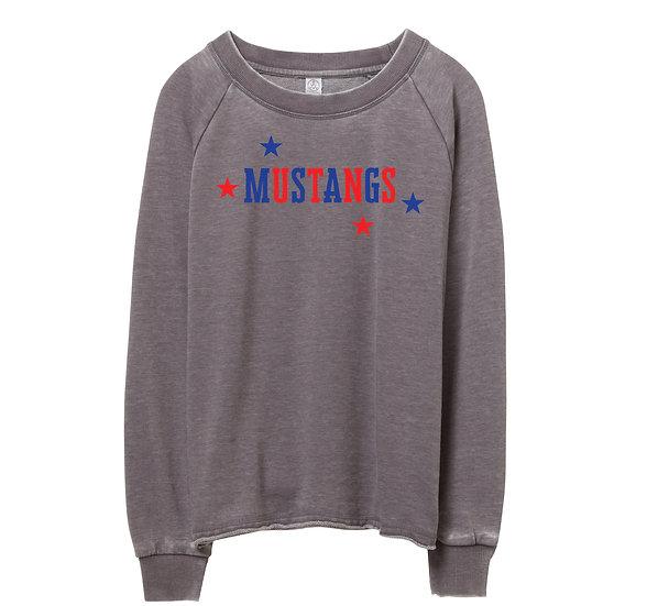 SMU Mascots Raw-edge Sweatshirt