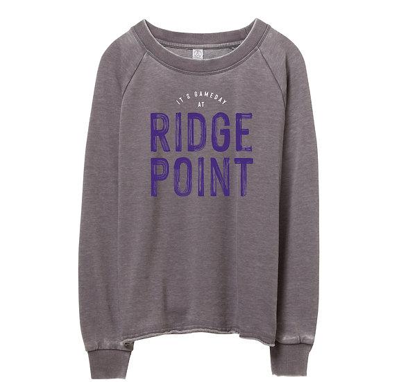 Ridge Point It's Gameday Raw-edge Sweatshirt
