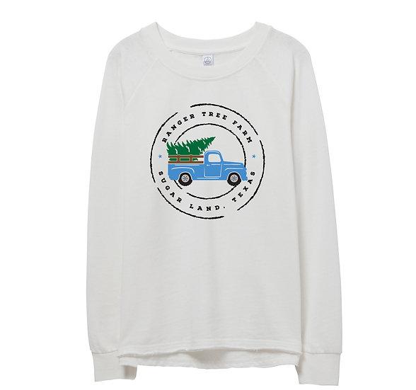 Clements Holiday Truck Raw-edge Sweatshirt