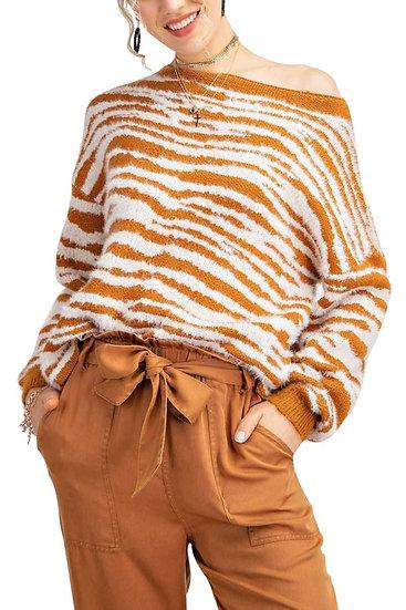 Zebra Stripe Sweater
