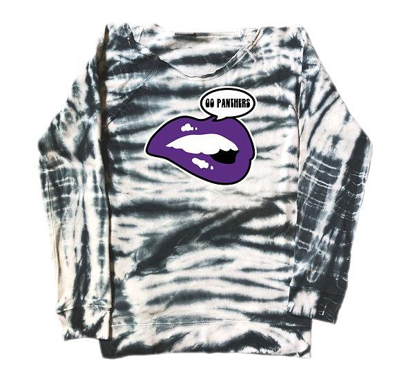 Ridge Point Lips Tie Dye Sweatshirt