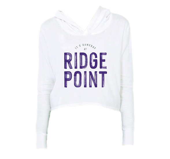 Ridge Point It's Gameday Crop Hoodie