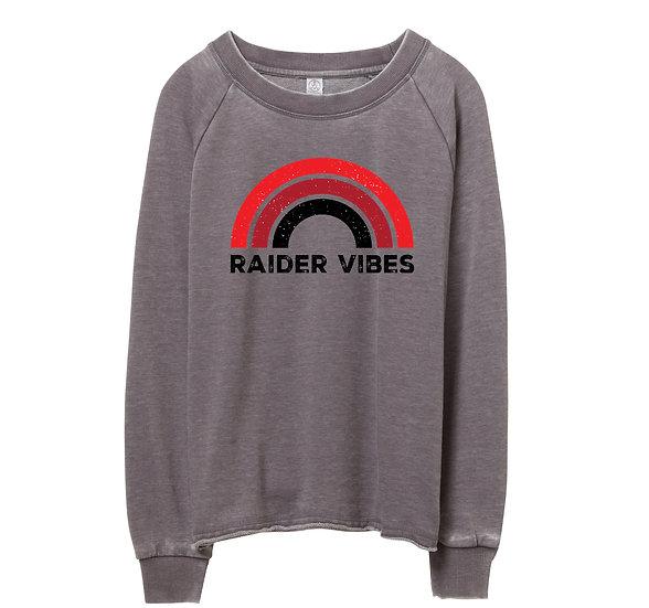 Texas Tech Rainbow Raw-edge Sweatshirt