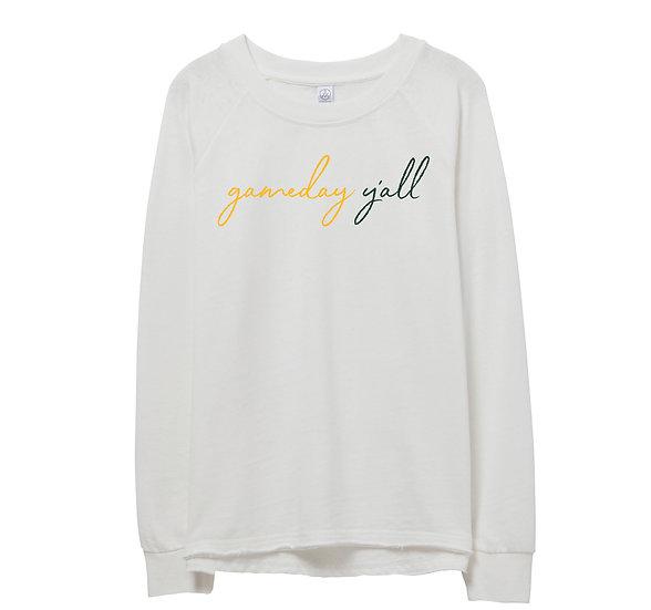 Baylor Gameday Y'all Raw-edge Sweatshirt