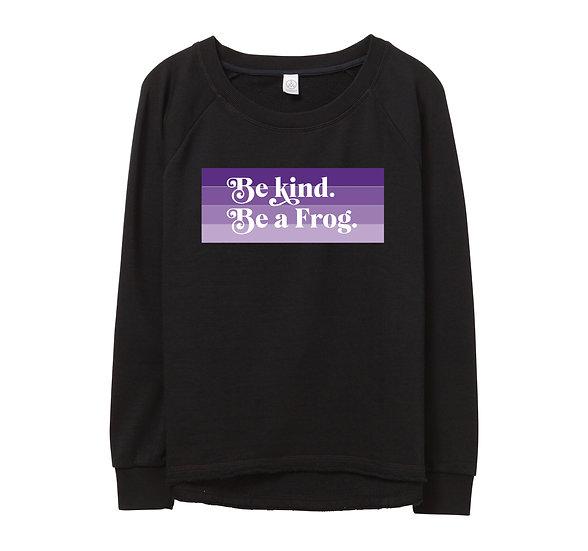 TCU Be Kind Raw-edge Sweatshirt