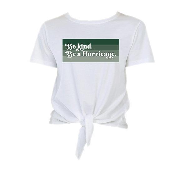 Hightower Be Kind Tie Front Crop Tee