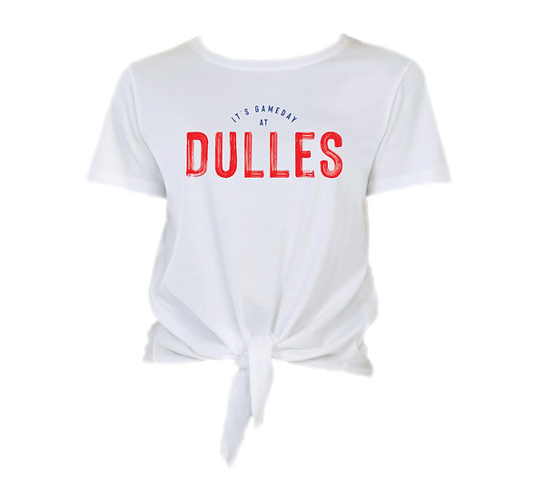 Dulles It's Gameday Tie Front Crop Tee