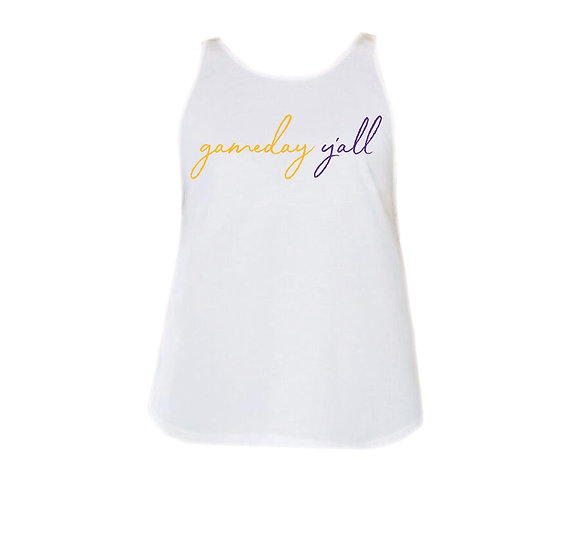 LSU Gameday Y'all Rounded Tank
