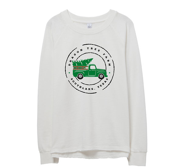Southlake Holiday Truck Raw-edge Sweatshirt