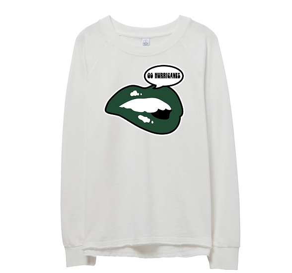 Hightower Lips Raw-edge Sweatshirt