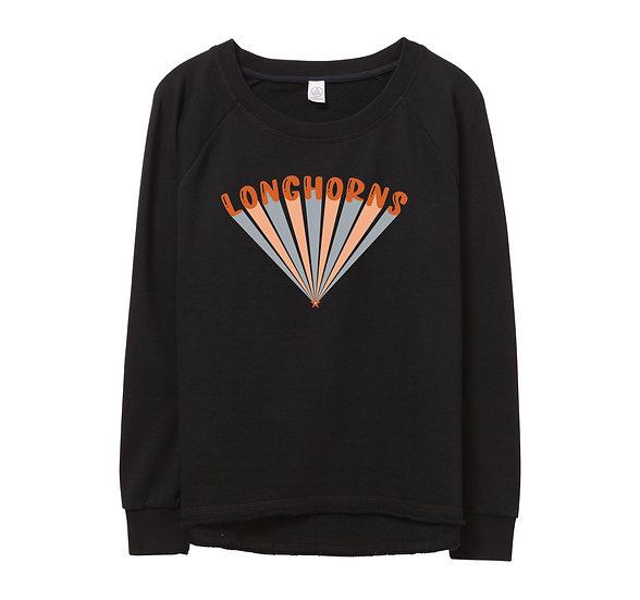 UT Bubble Raw-edge Sweatshirt