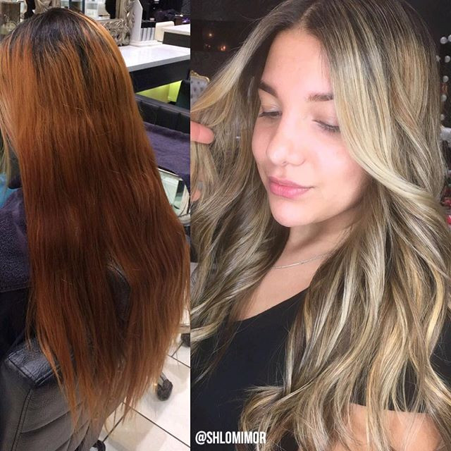 Hair color correction NYC by hair colorist Shlomi Mor