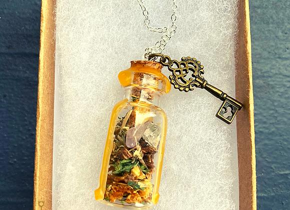 Unlock Your Abundance Spell Jar Necklace
