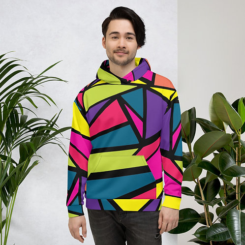Triangle Neon Abstract Unisex Hoodie