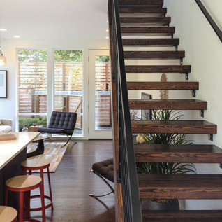 Model Home Floating Stairs