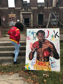 TOMMY HEARNS (4ft x5ft)