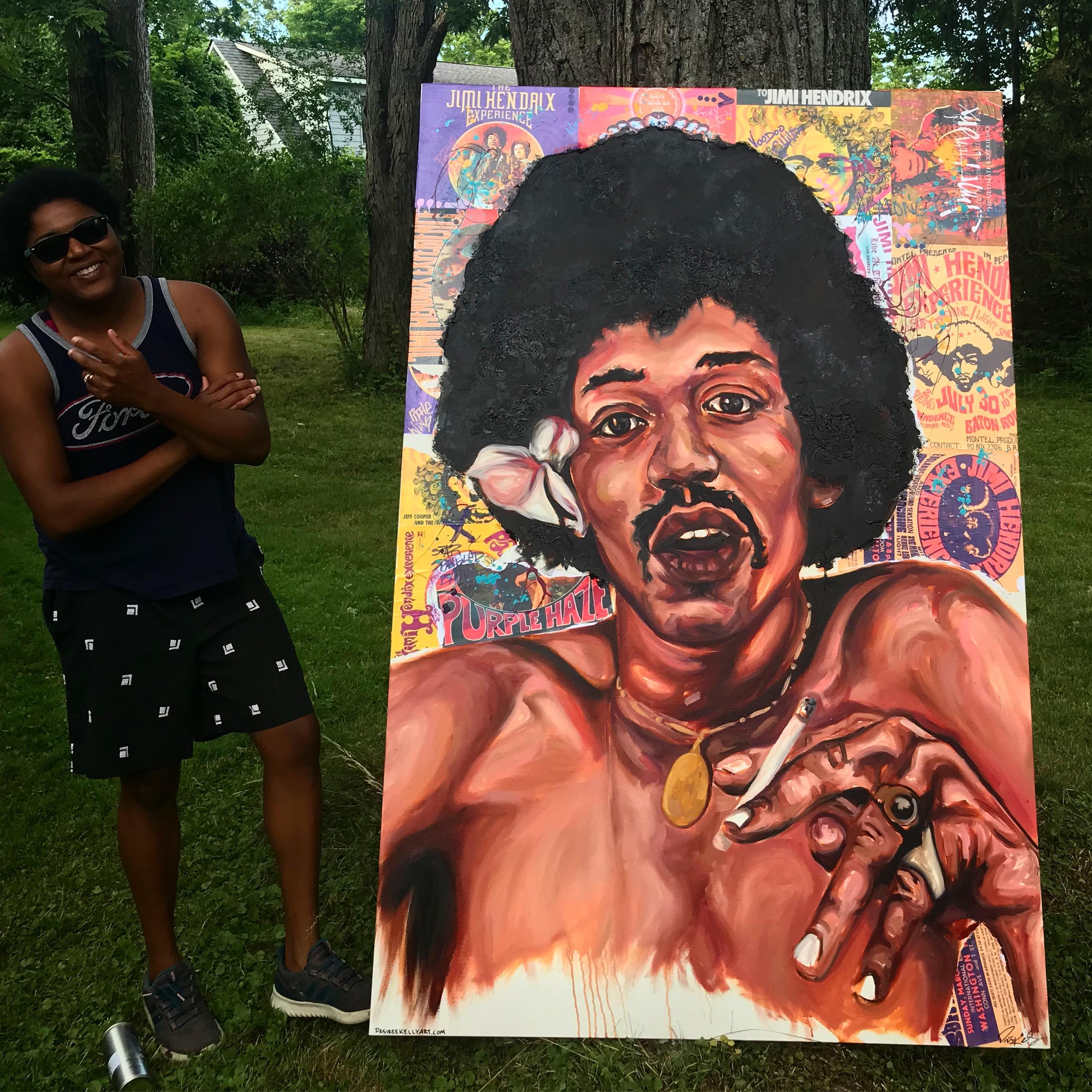 Jimi Hendrix 4ftx6ft