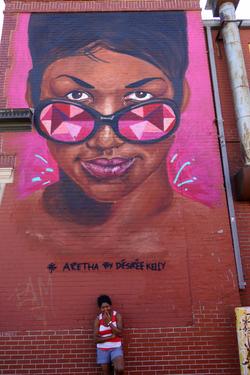 Aretha Franklin Mural - Eastern Mkt