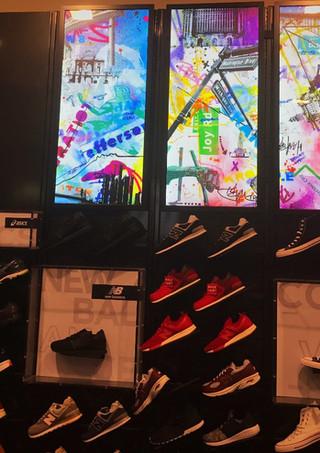 Footlocker Detroit display