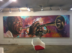 Louis Armstrong 5ft x 15ft