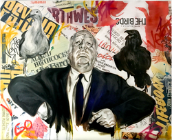 ALFRED HITCHCOCK (5ft x 6ft)