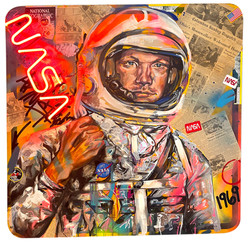 NEIL ARMSTRONG 4FT X 4FT
