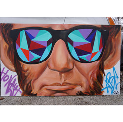Abe in Shades (Tropical) 3x5ft