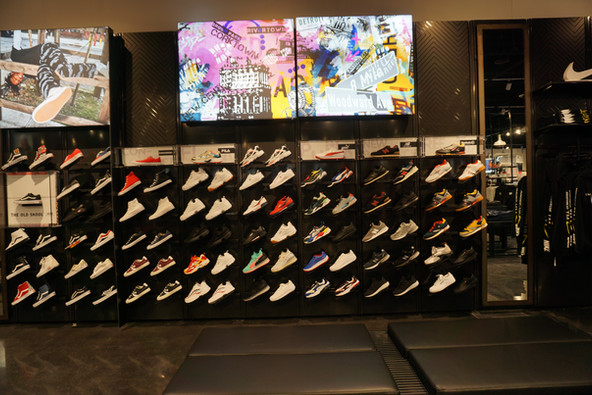 Interior Detroit Store Display- Foot Locker Power Store