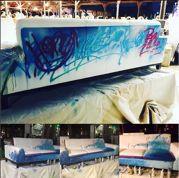 Eastern Market After Dark - Art Van sofa