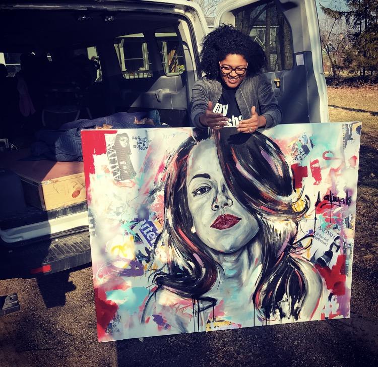 Aaliyah 4ft x 5ft