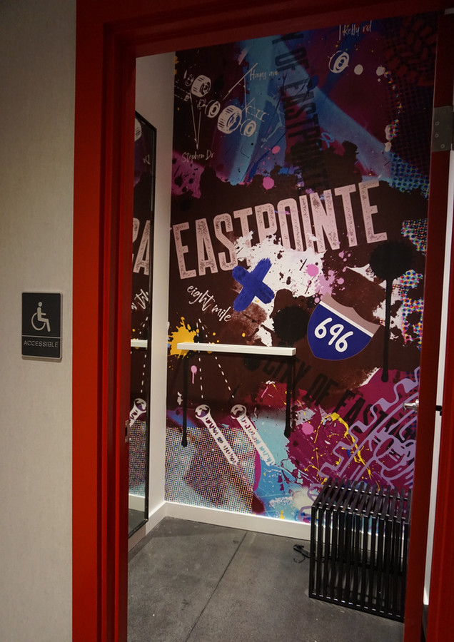 footlocker dressing room display