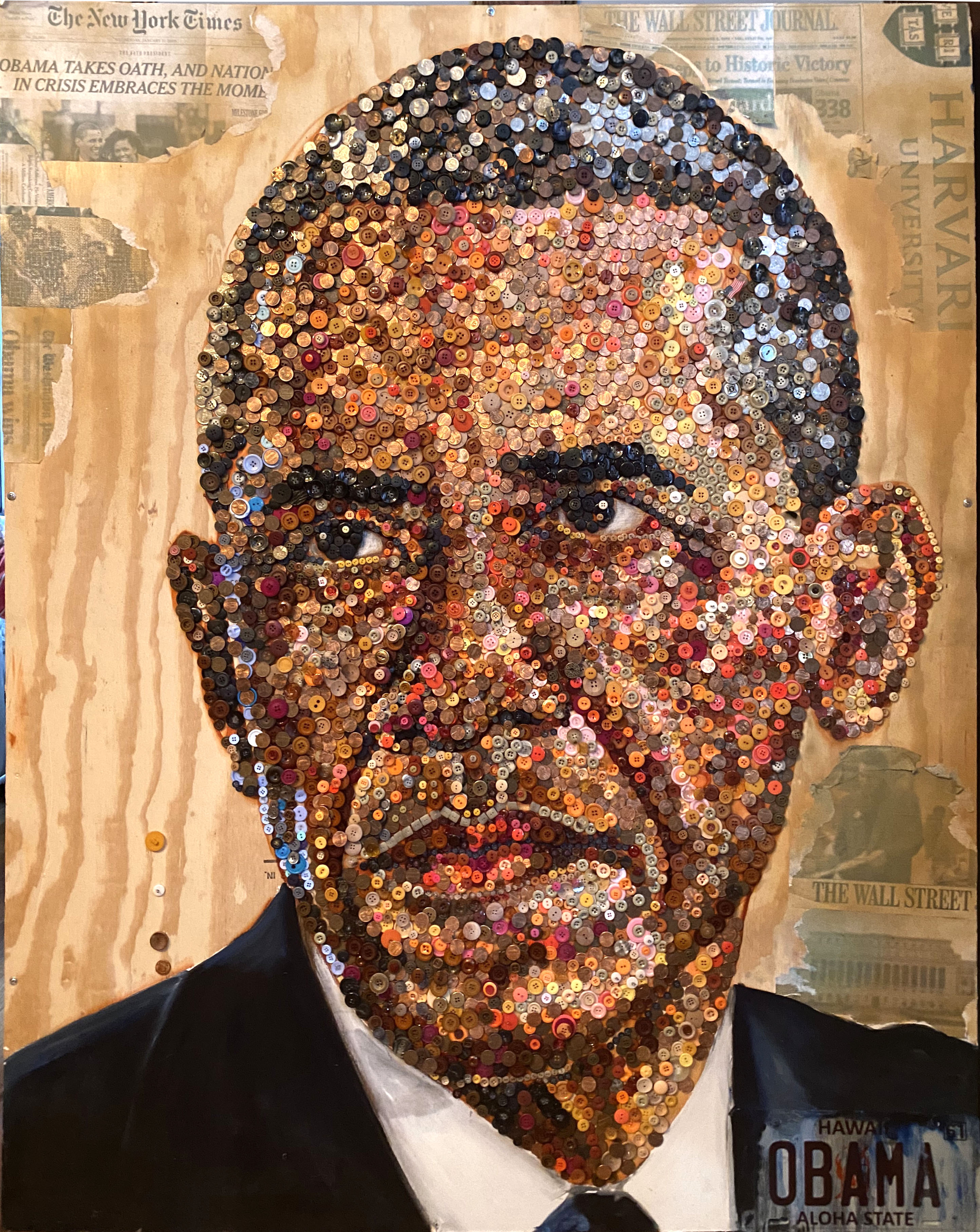 Obama Buttons 4ft x5ft
