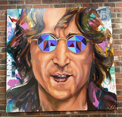 John Lennon 4ft x4ft