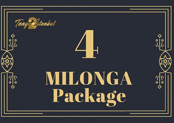 4 Milonga Package(13th tanGO TO istanbul)
