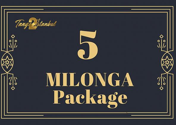 5 Milonga Package (13th tanGO TO istanbul)