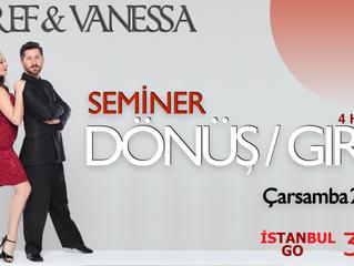 Esref & Vanessa'dan Taksim'de dönüş Semineri.