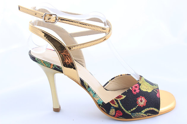Golden Ankle with Flowers