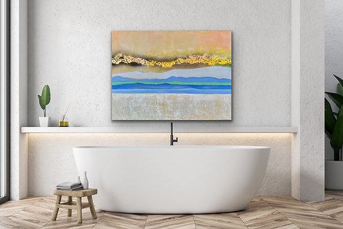 Pastel Landscape - Acrylic on Canvas