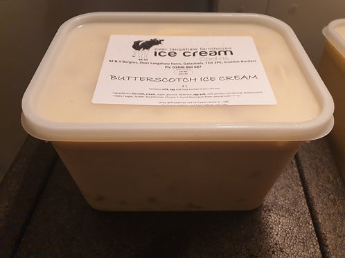 Butterscotch Ice cream 4 Litre