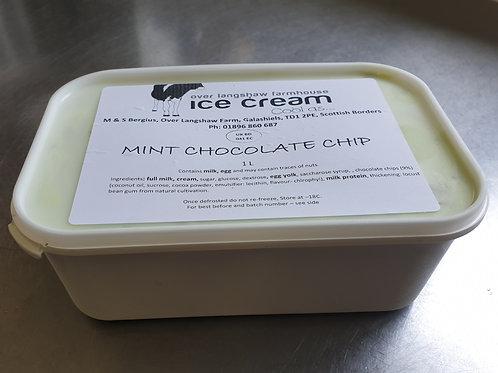 Mint Choc Chip Ice Cream 1 Litre