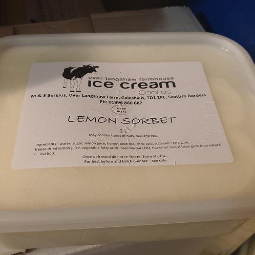 Lemon Sorbet 2 Litre