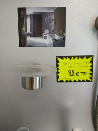Porte savon Logis Classic aspect acier 82€ TTC