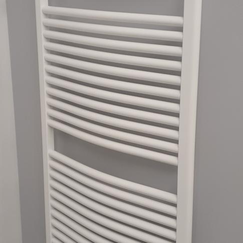Sèche-Serviettes OLA cintré blanc EC - 107€ TTC