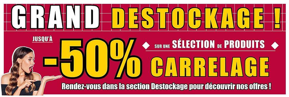 Bandeau Destockage VFCONFORT.FR carrelag
