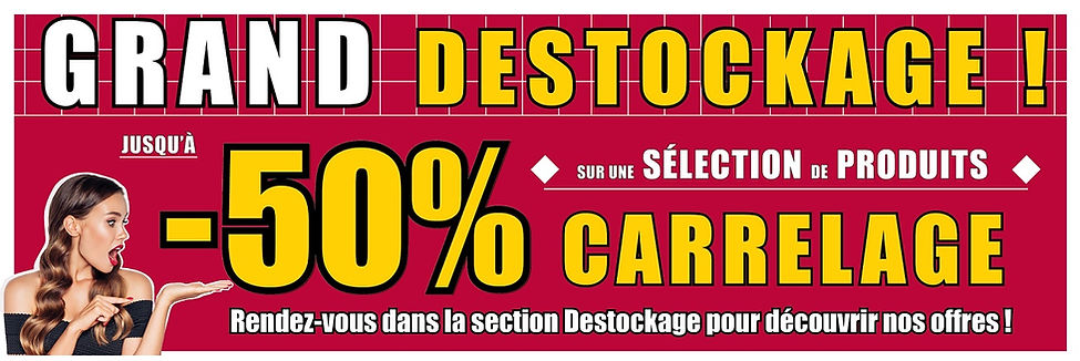 Bandeau Destockage VFCONFORT.FR carrelag