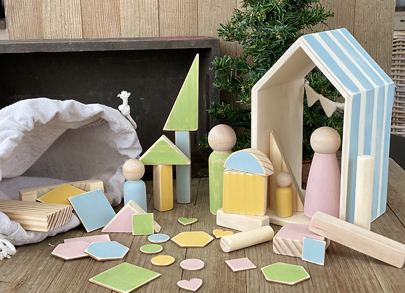 Wooden Playset - Blue House