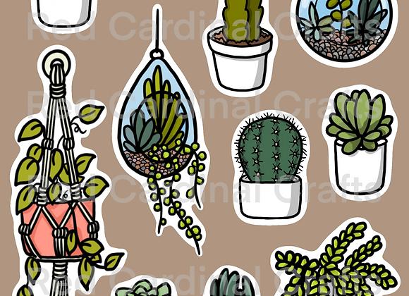 Digital Stickers - Succulents